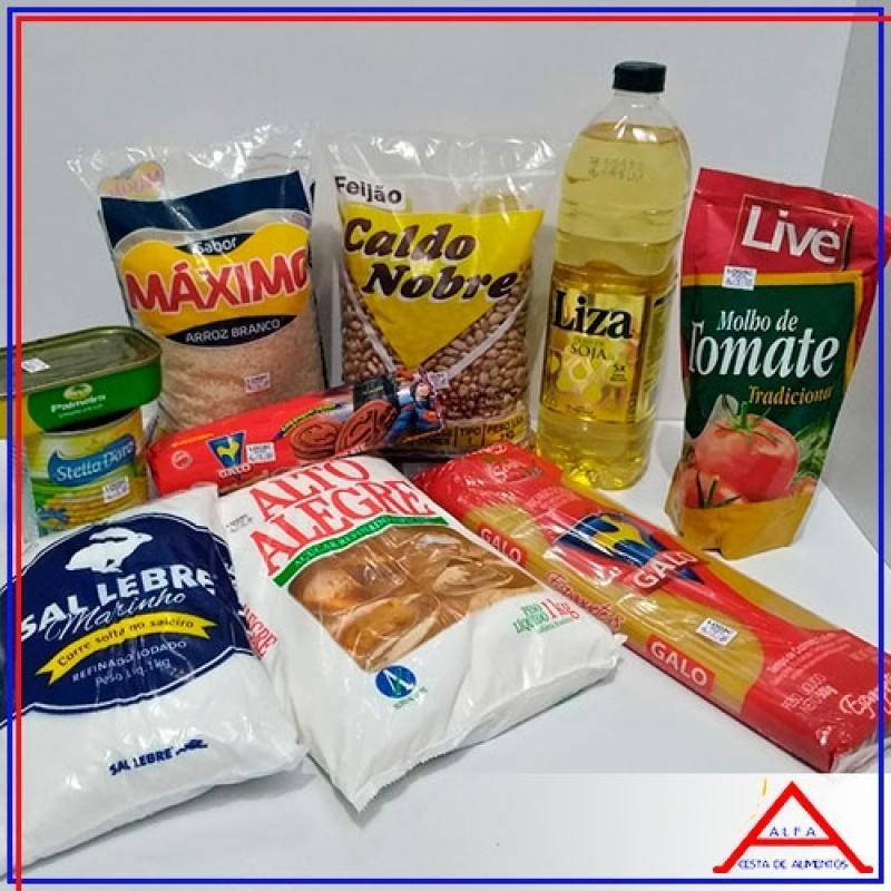Cesta Básica de Alimentos para Doação Preço Santa Efigênia - Cesta Básica de Alimentos para Doação