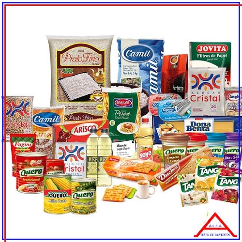 Cesta Básica Grande para Doação Preço Santa Efigênia - Cesta Grande de Alimentos para Doação