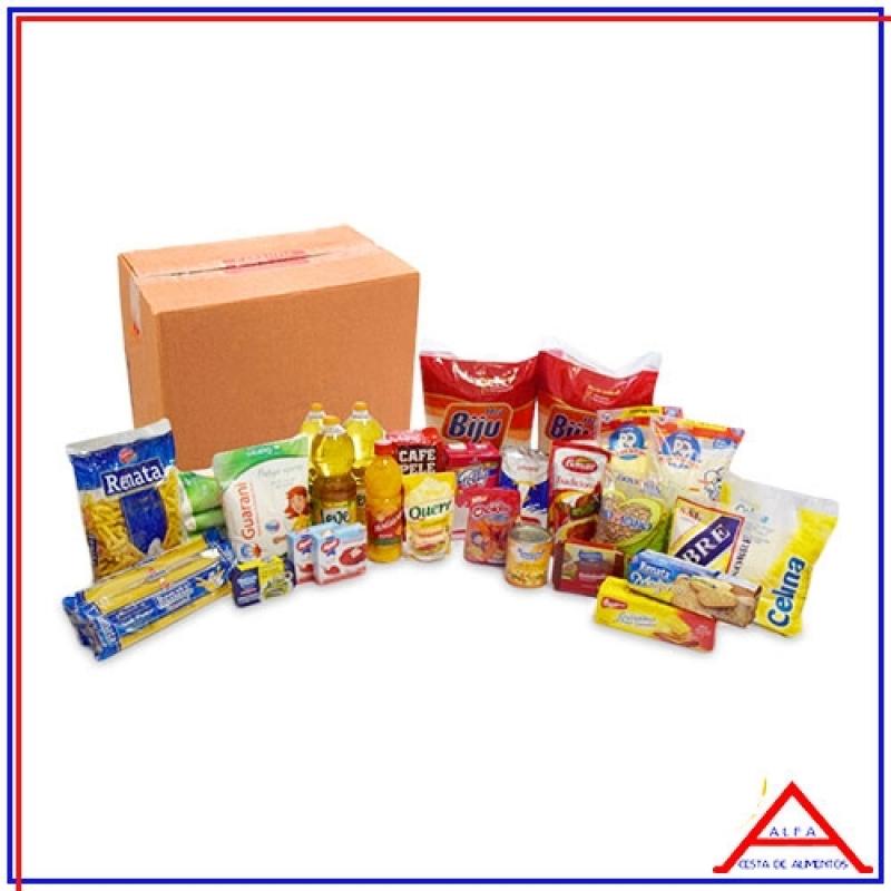 Cesta com Produtos Básicos para Doação Preço Guaianases - Cesta Básica de Alimentos para Doação