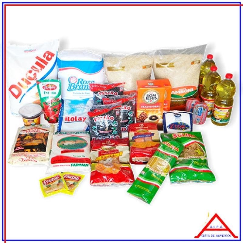 Cesta com Produtos Básicos para Doação Valor Chora Menino - Cesta Básica de Alimentos para Doação