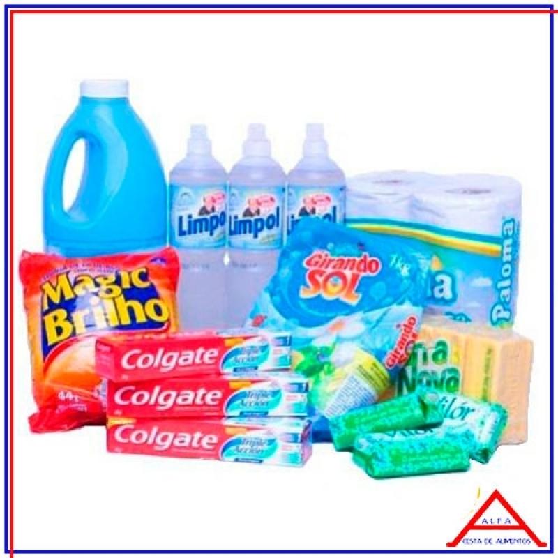 Cesta com Produtos de Limpeza Perus - Cesta Básica com Produto de Limpeza