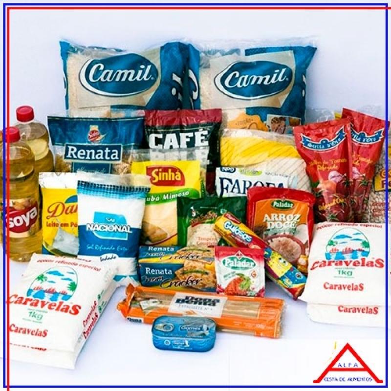Cesta de Alimentos para Solteiro Encomenda Tremembé - Cesta de Alimentos Básica