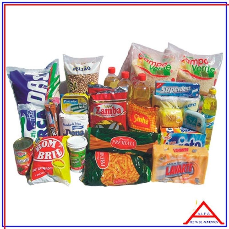 Cesta de Natal para Doação Valor Itaquera - Cesta Grande de Alimentos para Doação