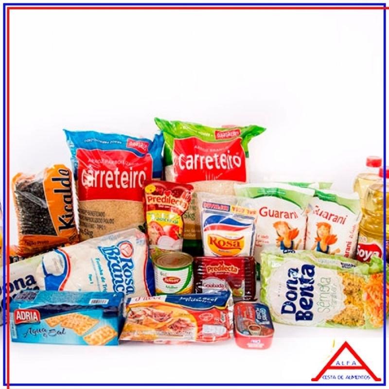 Cesta Grande de Alimentos para Doação Preço Belém - Cesta Grande de Alimentos para Doação