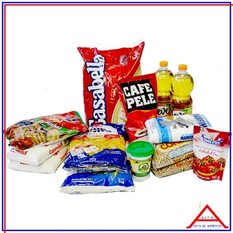 Comprar Cesta para Doação Higienópolis - Cesta Grande de Alimentos para Doação