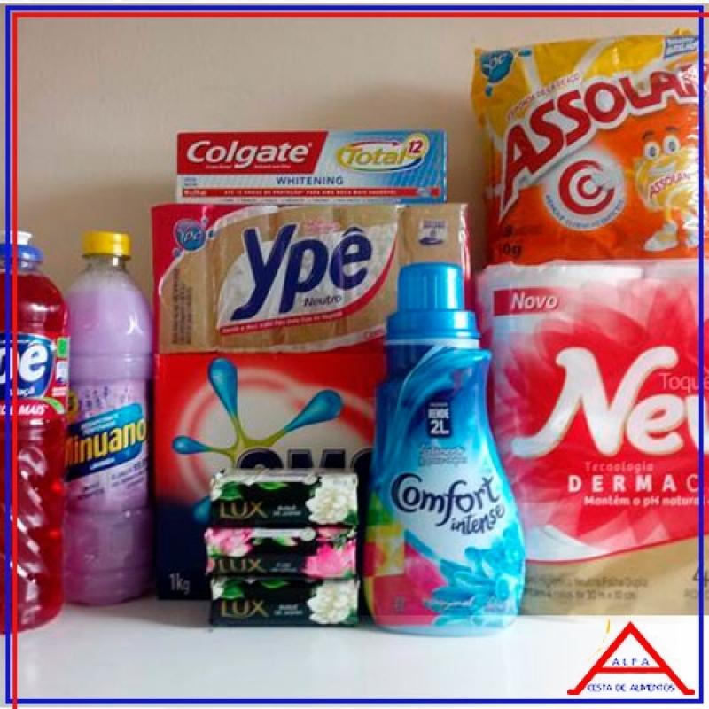 Onde Comprar Produtos de Limpeza Cesta Básica Sacomã - Cesta de Material de Limpeza
