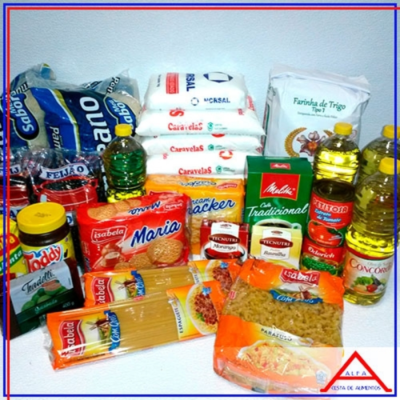 Preço da Cesta de Alimentos Pat Brás - Cesta Básica de Alimentos Grande