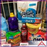cesta básica de higiene e limpeza Anália Franco