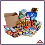 cesta de alimentos mensal para 2 pessoas Pompéia