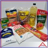 cesta básica de alimentos para doação