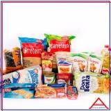 cesta grande de alimentos para doação preço São Domingos