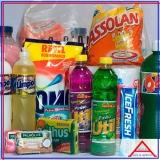 cesta de produtos limpeza