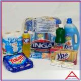 cesta material de limpeza Bixiga