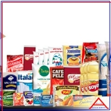 empresa que monta cesta grande de alimentos para doação República