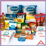 montar cesta de alimentos para funcionários Pompéia