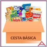 valor da cesta de alimentos completa Ponte Rasa